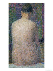 SEURAT, Model from the back 1887
