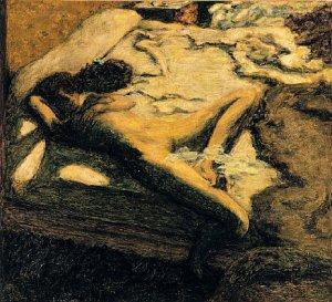 BONNARD Woman dozing on a bed 1899