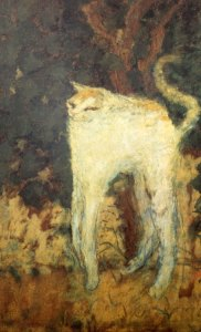 BONNARD The White Cat 1894